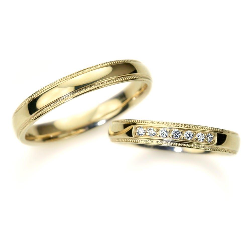 Vjenčano prstenje ER-040 od žutog zlata